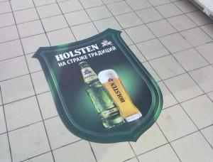 рекламная напольная наклейка