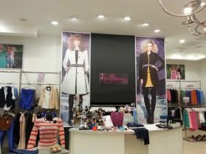 напечатанный баннер для магазина одежды